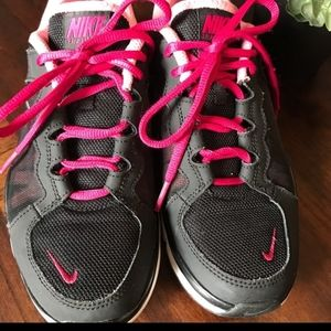Pink and black nike